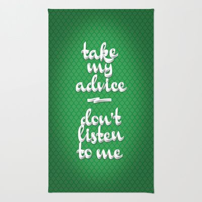 Irony (Green) Area & Throw Rug by Nameless Shame - $28.00