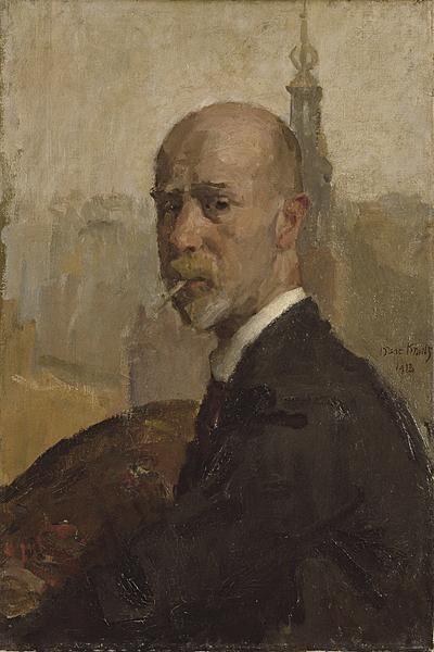 Isaac Israels (1865-1934) Self-portrait.