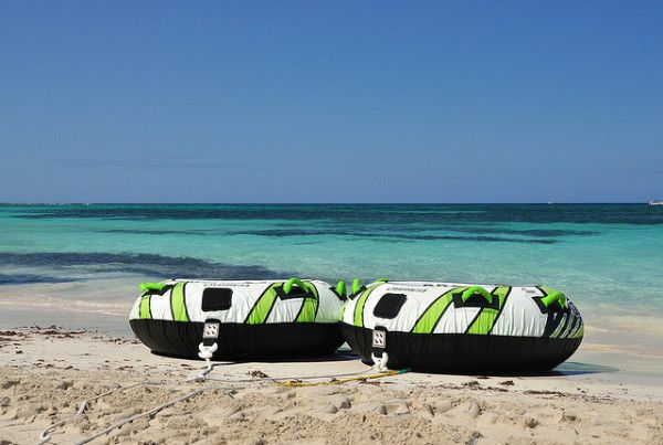 Interesting Facts About Jamaica: Two tubes ready for passengers on Jamaica Beach