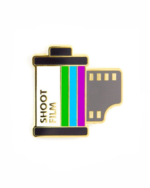"""See what develops! - Hard enamel pin - Gold metal accenting - Rubber clutch backing - Measurements: 1"""" By These Are Things"""