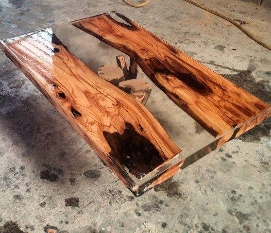 Holz in Epoxidharz eingießen