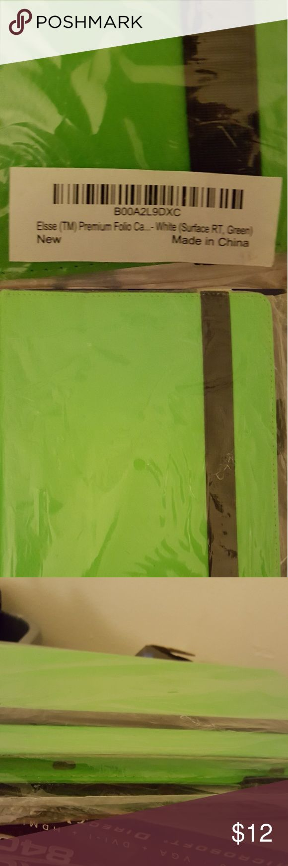 Brand New windows surface case Lime green. Pleather. Accessories Tablet Cases