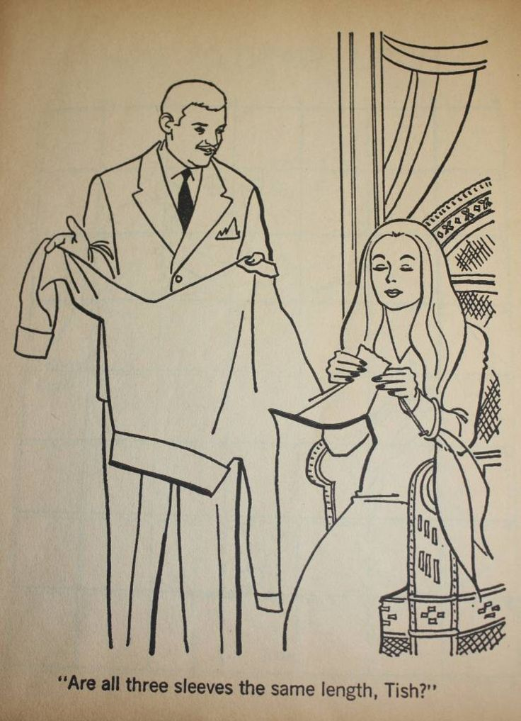 addams family tv show coloring book | The Addams Family – A Coloring Book (1965) |