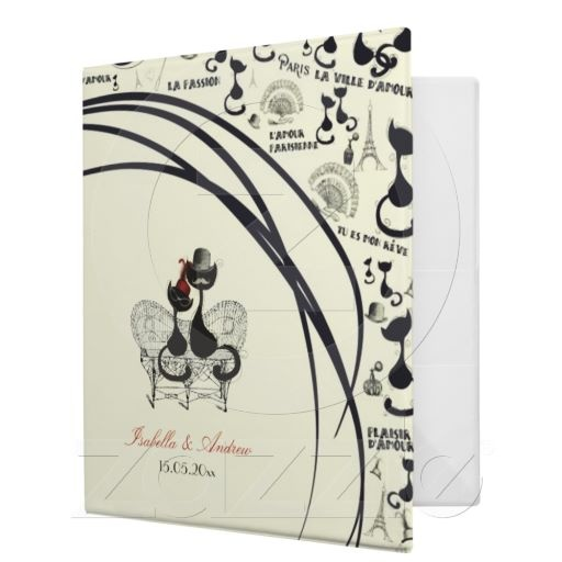 Les Aristochats Noirs - french passion 3 Ring Binders