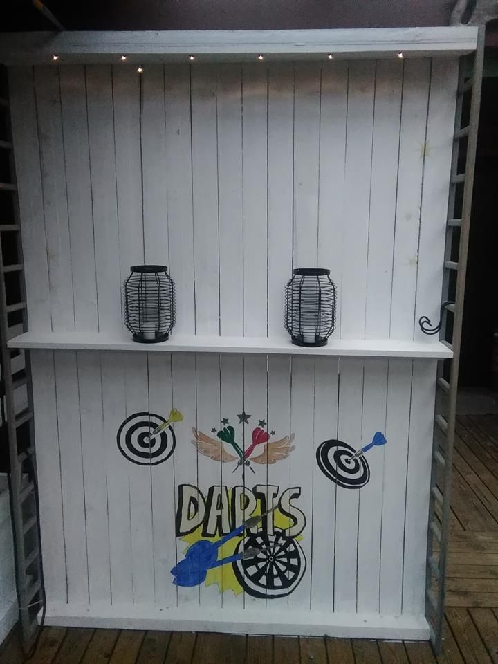 diy ideas recycling pallet dartboard in Terrace made by me