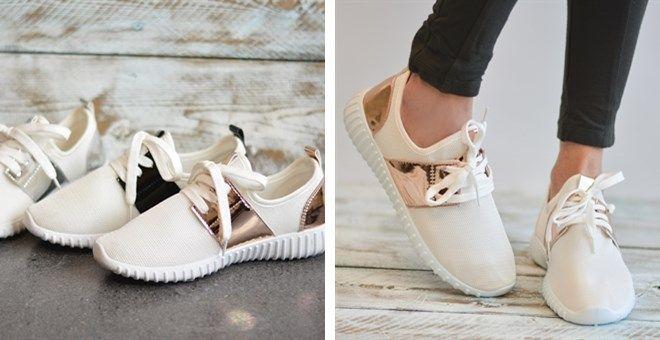 Breathable Lightweight Metallic Sneakers