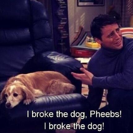 Lol Joey Tribbiani :) Friends tv