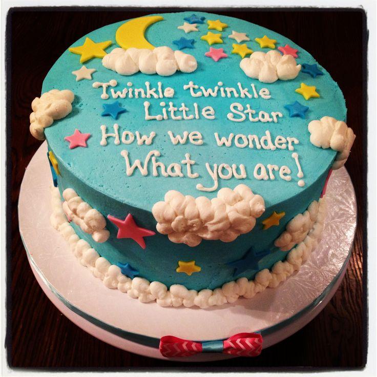 Twinkle twinkle little star...gender reveal cake!