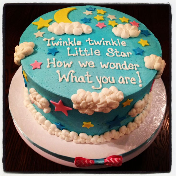Twinkle twinkle little star...gender reveal cake!