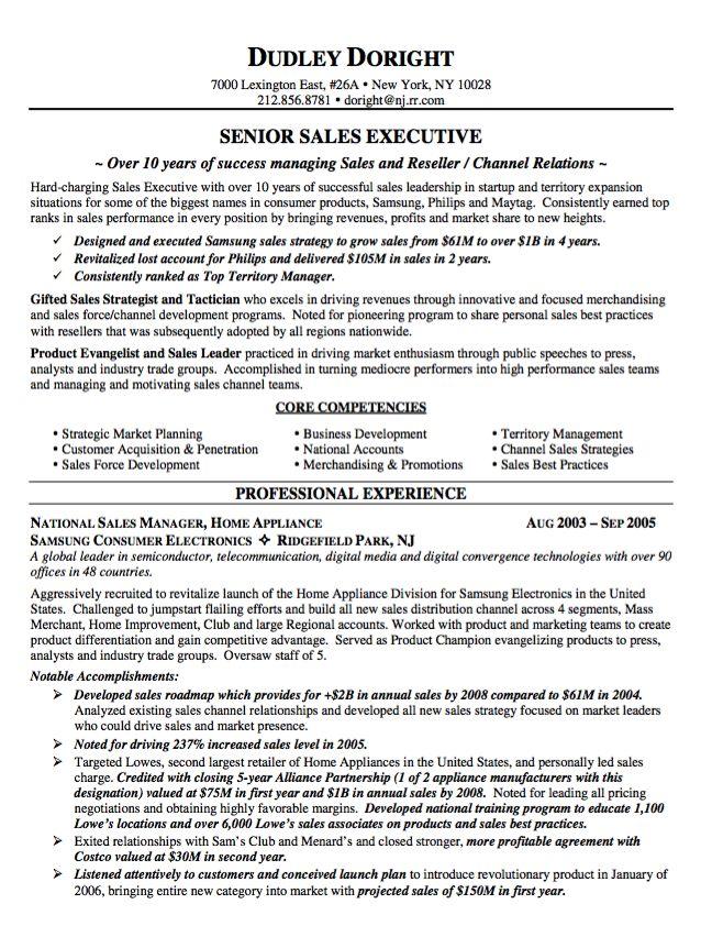 Sample Resume Senior Sales Executive - http://resumesdesign.com/sample-resume-senior-sales-executive/