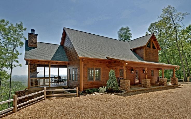 Breathtaking wonderful lodge cabin in blue ridge for Log cabin portici e ponti