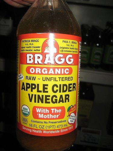 SHINGLES: Give this simple treatment a try. You can use apple cider vinegar right from the bottle and apply to the skin area where the shingles are located. Apply four times during the day and three times during the night if you awake. The burning and itching feeling on the skin should leave within a few minutes after the vinegar is applied. Many people swear by this treatment declaring that the shingles heal quicker from the frequent use of apple cider vinegar.