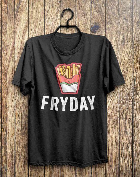 FRYDAY Junk Food T-Shirt – Shirtoopia #food #black #top