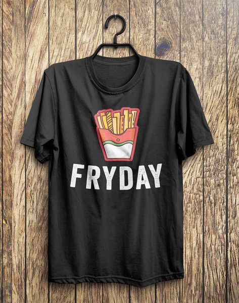 FRYDAY Junk Food T-Shirt – Shirtoopia #food #black #top