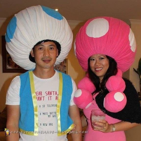 Awesome and Easy Toad and Toadette Costume...