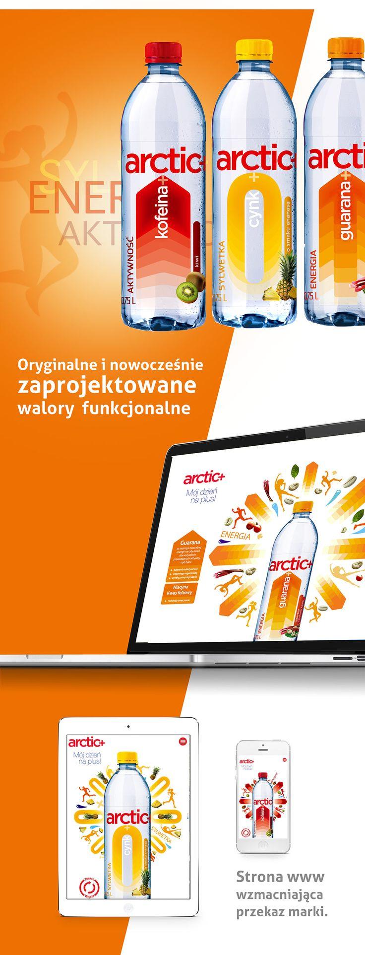 ARCTIC+ Wody funkcjonalne | PND Futura | Agencja brandingowa, Projektowanie opakowań, Food Photography
