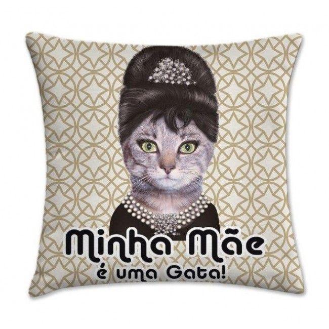 Almofada estrela Minhã mãe é uma gata