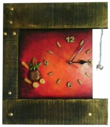 Inspired from nature, this is an exquisite Red and Green wall clock. The Square shape Wooden Wall Clock makes an ideal addition in your room. The material further grants it longevity.