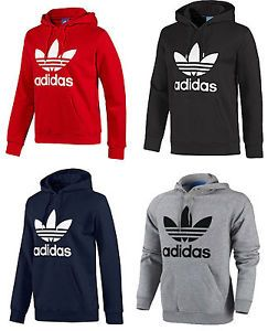 Details about Adidas Originals Mens Trefoil Fleece Hooded Sweatshirt Hoodie  Size S-M-L-XL  1ad8ec638