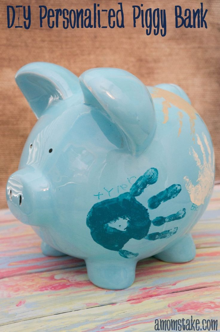 Best 25 personalized piggy bank ideas on pinterest baby for Piggy bank craft