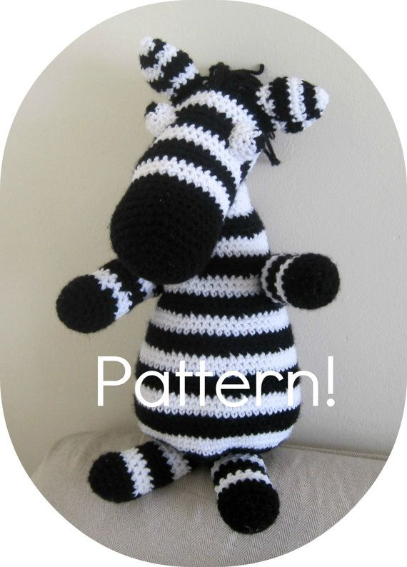 Crochet pattern Zebra amigurumi toy  Crochet by YanasKnitting, $4.00