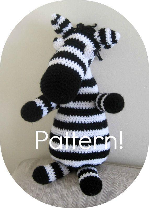 Crochet pattern Zebra amigurumi toy  Crochet by YanasKnitting, $4.00