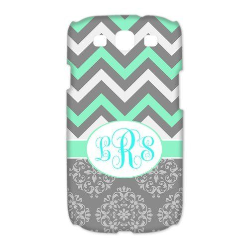 """Zig Zag Grey Vintage European Pattern Cyan Chevron Splice Personalized custom PhoneCase For Samsung Galaxy S3 I9300. Show off your unique style with a personalized monogram design Case!. Ordering is Easy:You would like in the selection fields right above the """"Add to cart"""" button. Then select """"Add to cart"""" and SEND US AN AMAZON MESSAGE AFTER PURCHASE TO TELL US YOUR PERSONALIZATION Your Phone Model AND CASE COLOR REQUEST. THERE IS NO PLACE TO MAKE YOUR REQUEST DURING CHECKOUT. Offer Phone..."""