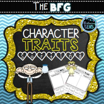 The BFG Character Trait Sorting Activities