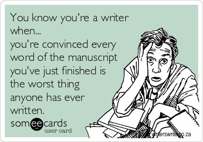 You know you're a writer when... - Writers Write Creative Blog --- aahh but this works for essays also. They always look so awful...