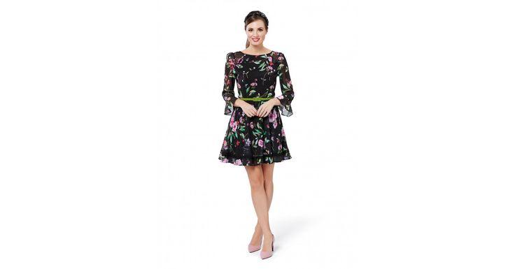 Review Australia - Wild Pixie Dress Black/multi