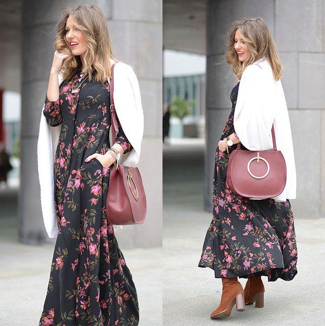 Vestidos de flores largos ¡Looks Fabulosos! | 101 Vestidos de Moda | 2017 - 2018