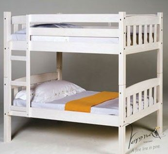Verona Designs Junior America Shorty Whitewash Bunk Bed A great space saving idea this gorgeous Shaker-style bunk bed is the same height as a regular bunk bed but its shorter length makes it perfect for a smaller space. Made from solid pine and in a trend http://www.comparestoreprices.co.uk/bunk-beds/verona-designs-junior-america-shorty-whitewash-bunk-bed.asp