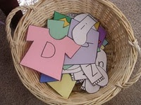 Laundry letters cute idea