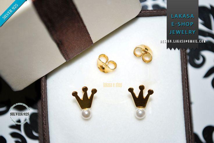 Lakasa e-shop | Jewelry #pearls #crown #earrings #stud #jewelry #sterling #silver #jewellery #gift #woman #moda #bestideas #joyas #mujer #handmade #girl #σκουλαρικια #ασημενια #κορωνα #γυναικα #κοριτσι #ιδεες #δωρο #μαργαριταρια #handmadejewelry #χειροποιητο #παιδικο #πριγκιπισσα #princess #regina #free #delivery #freeshipping #δωρεαν #μεταφορικα #εξοδα #αποστολης #αντικαταβολη