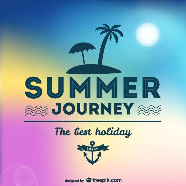 Summer journey tropical design Free Vector