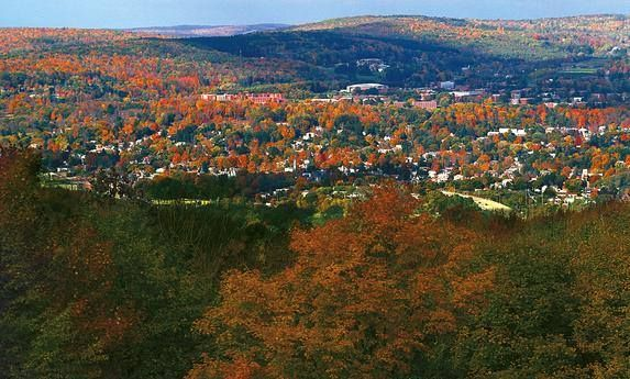 View of Oneonta, NY from Hartwick College   upstate NY ...