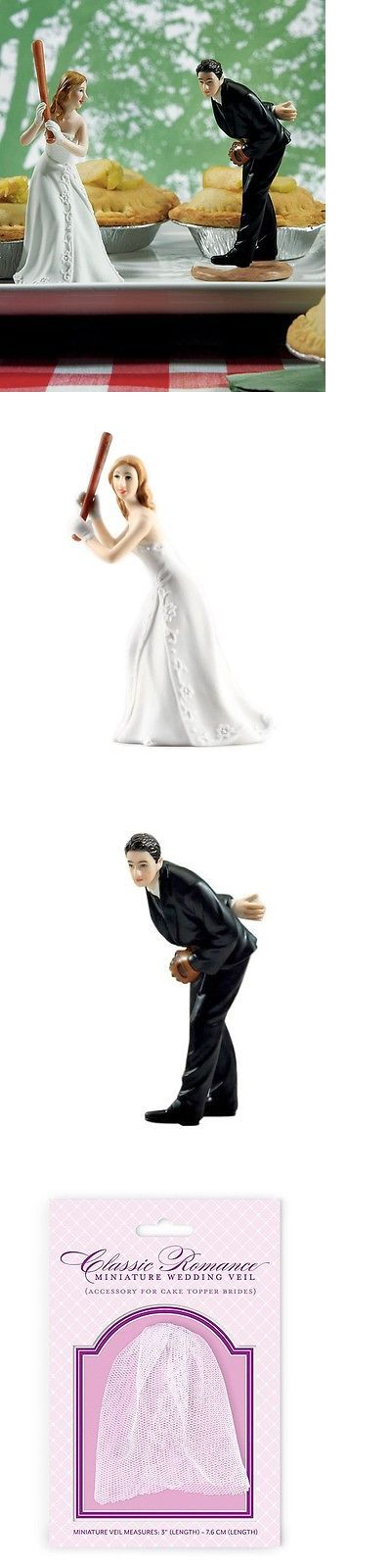 Wedding Cakes Toppers: Baseball Couple Wedding Cake Topper Funny Pitching Groom Cute Home Run Bride -> BUY IT NOW ONLY: $51.99 on eBay!
