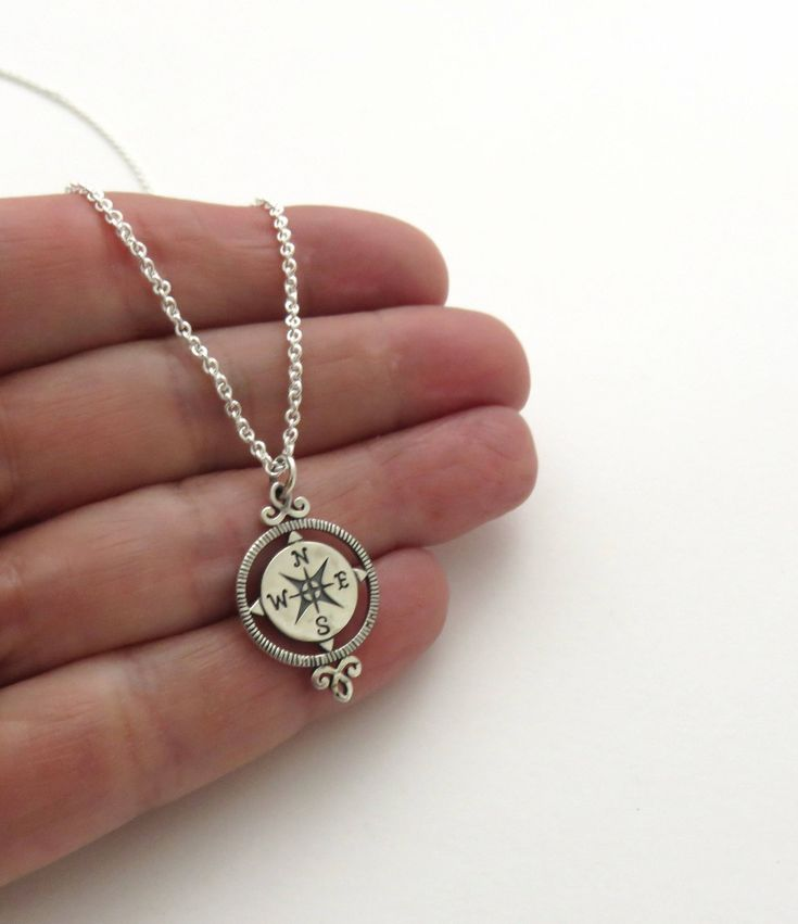 Retirement Gift for Women | Sterling Silver Compass Necklace