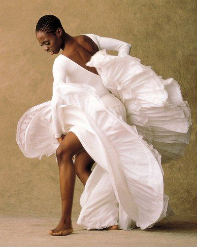 Alvin Ailey American Dance Theater . Wondered how she managed to get around in that fabulous costume