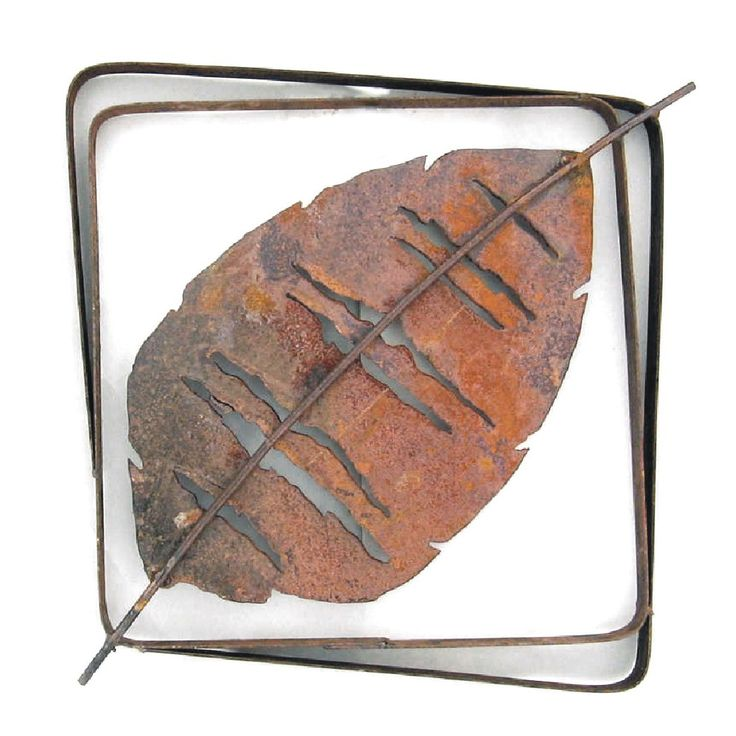 Metallic Evolution Outdoor Aspen Leaf Steel Frame XL LFRX-02, Small LFR-02 Artistic Artisan Sculptural Metal Wall Art