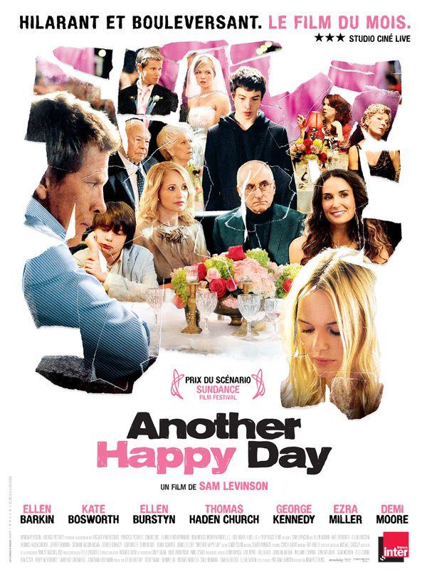 Another Happy Day est un film de Sam Levinson avec Ellen Barkin, Ezra Miller. Synopsis : Lynn débarque chez ses parents pour le mariage de son fils aîné, Dylan. Elle est accompagnée de ses deux plus jeunes fils, Ben et Elliot. La propensio