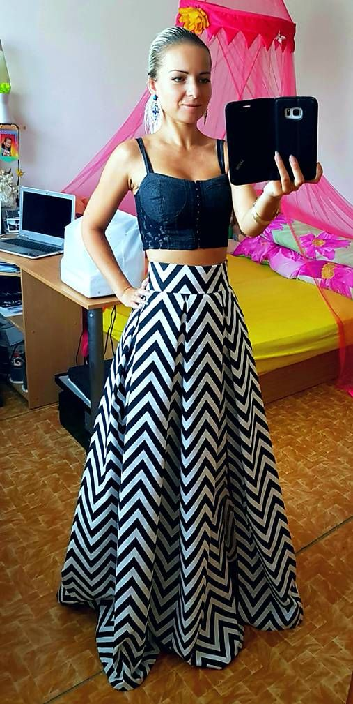 69a97812e420 Dlhá skladaná maxi sukňa CIK-CAK   Lady M Fashion