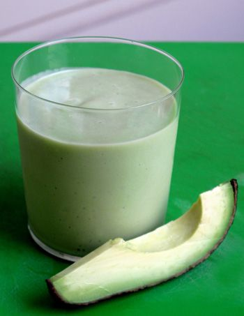 Avacado-Pear smoothie!  Don't knock it until you try it!  Had it for breakfast today - tweeked a little, I put in some of my canned pears, plus a little yogurt (don't like tofu) and 1 T of flax seed.  It was really good!