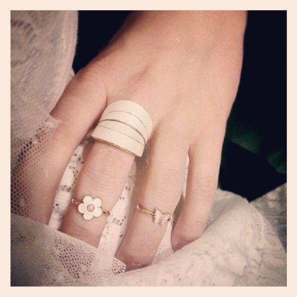 Beautiful enamel and silver rings