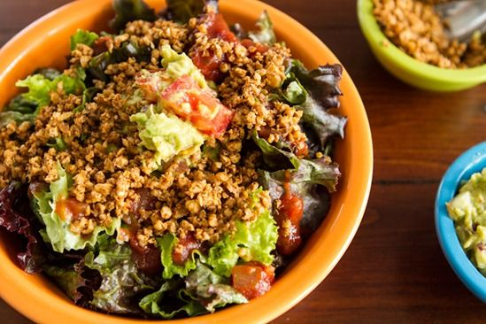 Layered Raw Taco Salad for Two | Yum! | Pinterest