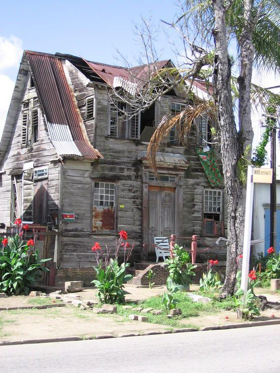 Beautiful- - Old Houses with flowers by TravelPod member Mary_in_surinam, from Parimaribo, Suriname