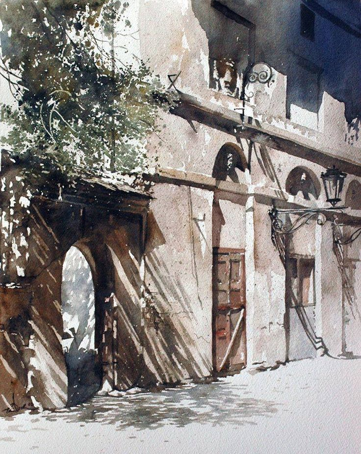 World Class water colour by Paul Dmoch.