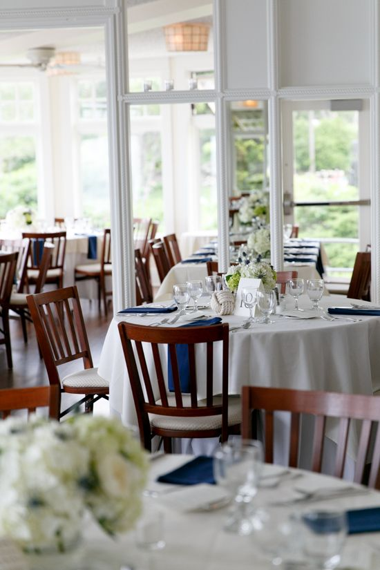 Dinner Setup For A Wedding Reception At The York Harbor Reading Room In Maine