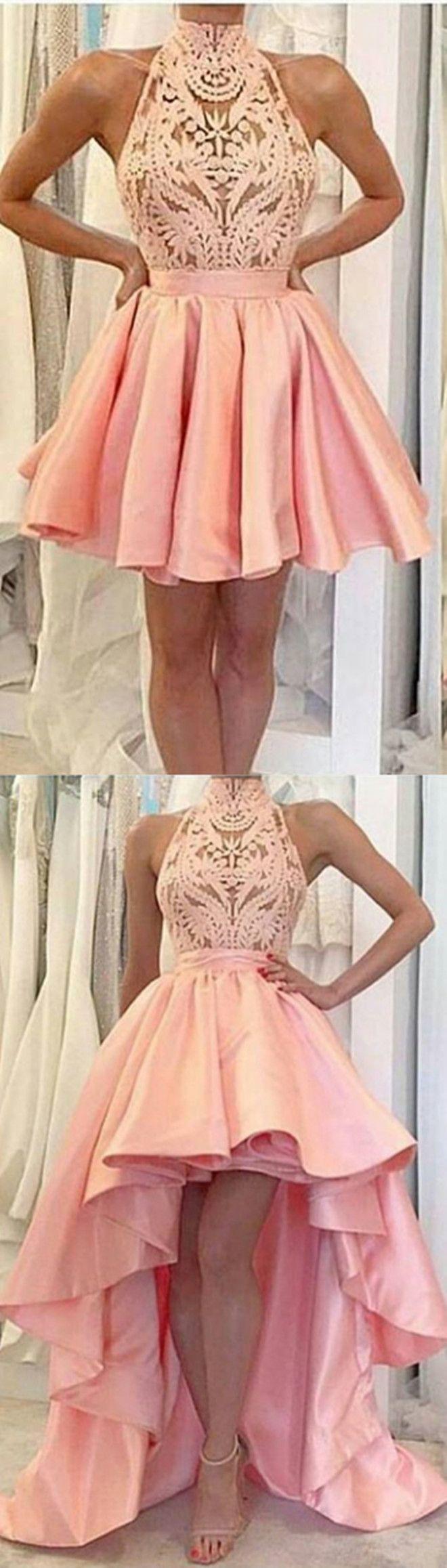 2017 homecoming dresses,pink homecoming dresses,unique homecoming dresses,high low homecoming dresses @simpledress2480