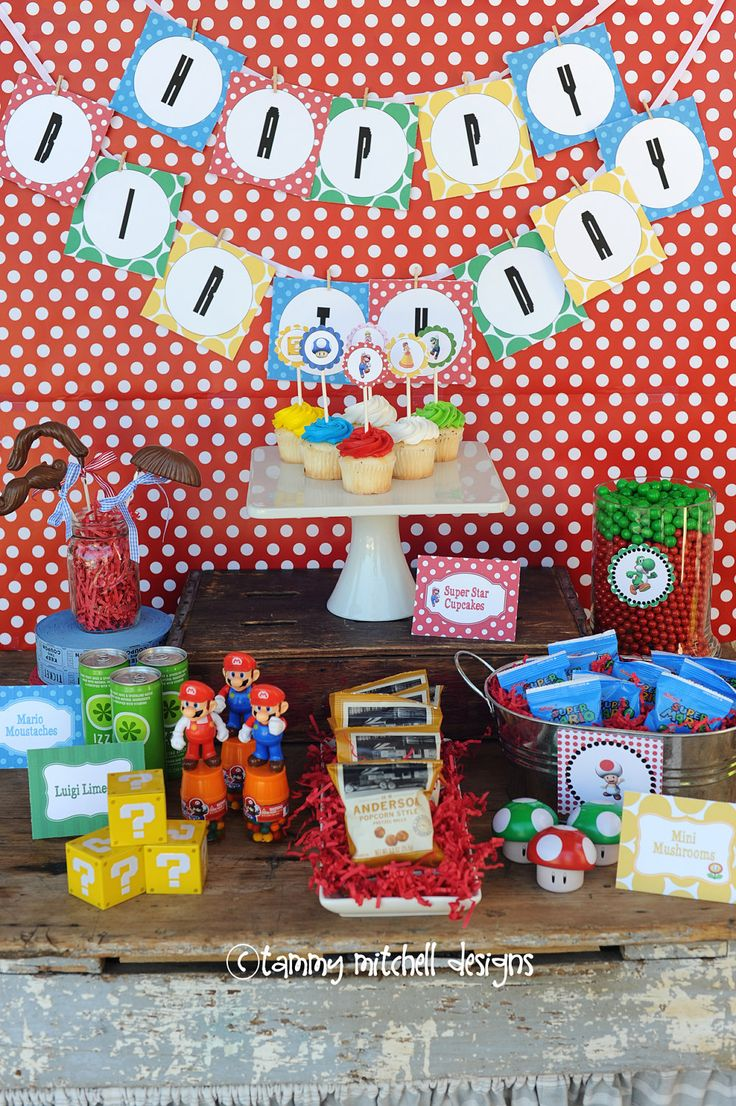 The Super Mario Brothers Party Printable Party Collection. $45.00, via Etsy.